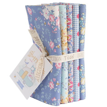 Tilda Happy Camper Blue Fat Quarter