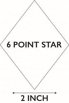 6 Pointed Star 2""