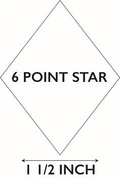 6 Pointed Star 1½""