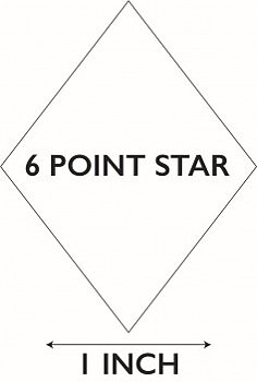 6 Pointed Star 1""