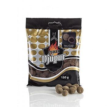 Starka Djúpur Lakrits & choklad täckt med salmiak och lakritspulver 150g