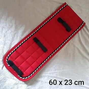 Nr6 Tömkörning underlägg  Mias  super kvalite ! Röd / svart vit silver / svart 60 x 23 cm