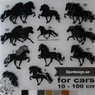 KLISTERDEKALER Islandshästar Hästar & Text mm