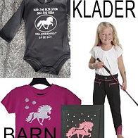 Barn Junior Kläder med Brodyr & Tryck