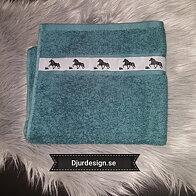 Handdukar Islandshästar & Namn brodyr