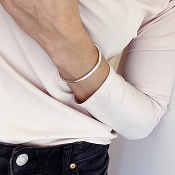 MILA PLAIN bangle, silver