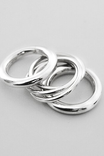 MILA COMBO rings 4 mm + 3 in One ring