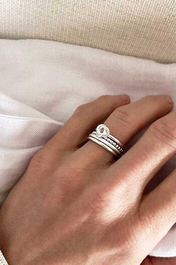 MILA RING STACK thin/frost/knot/Amalia