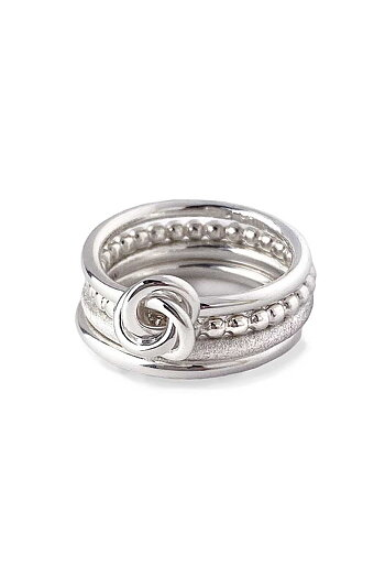 MILA RING STACK thin/frost/knot/Amalia