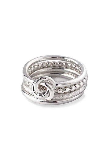 MILA COMBO ringar thin/frost/knot/Amalia