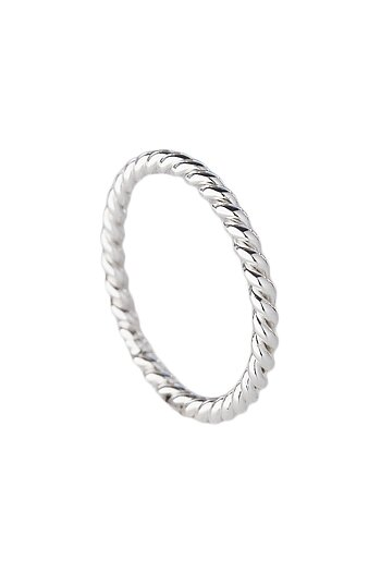 MILA COMBO ring thin, twisted silver