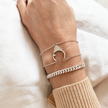 THE JOURNEY CHAIN bracelet silver