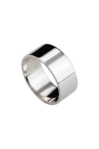 MILA PLAIN ring silver 10 mm