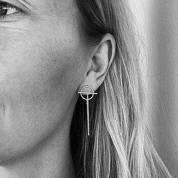 ROD CHAIN earrings silver