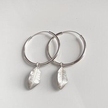 MILA MY GARDEN hoops, silver