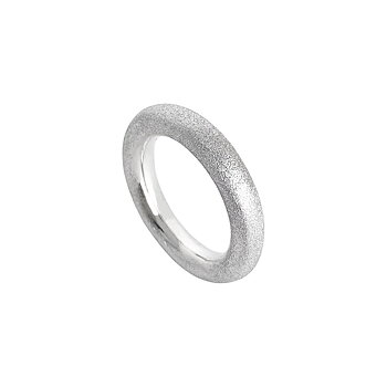 MILA COMBO ring frosted silver, 4 mm