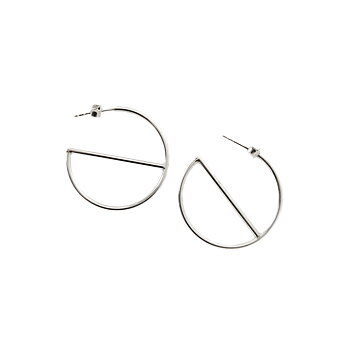 MILA ROD Hoops Medium, silver