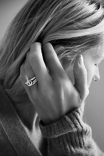 MILA RING STACK Knot ring+Amalia+Thin