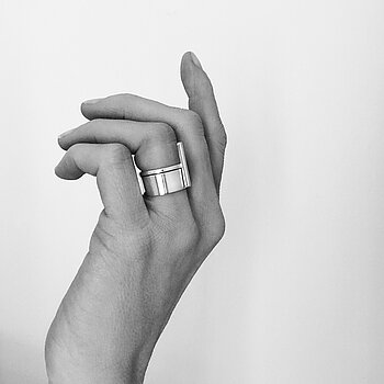 MILA RING STACK Rod + Plain ring