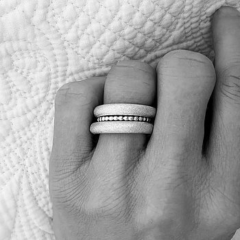 MILA RING STACK 4 mm, frost + Amalia