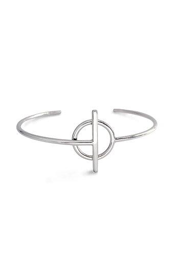 ROD Cuff armband silver