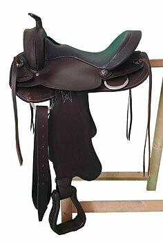 "Bomlös westernsadel- ""Short back"", utbytbart framvalv."
