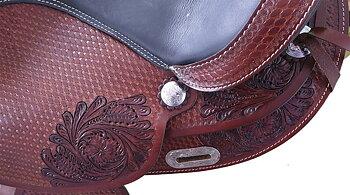 """Bomlös westernsadel- Flexzone-saddles """"Texas"""", utbytbart framvalv."""