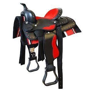 """Westernsadel ponny, 12"""". Inkl. filt och sadelgjord."""
