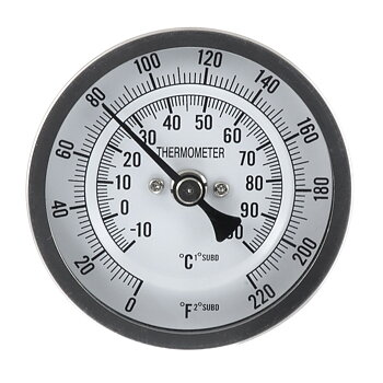 """termometer 136 mm, 1/2"""" MPT"""