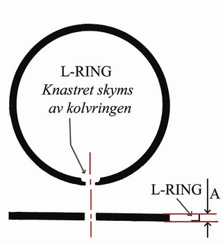 Kolvring Zündapp 39mm L-ring