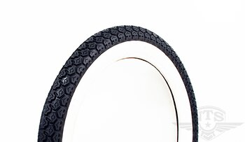 Tire 2.50-15 F-899 with white side