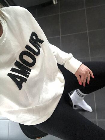 Amour - Sweatshirt  - Vit