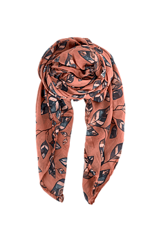 BLACK COLOUR - MELBA Leaf scarf - Pepe Rose