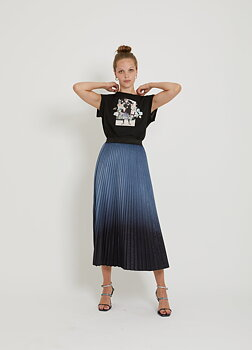 COSTER Copenhagen - KOM - 204-4552 - Skirt w. plisse - Midnight
