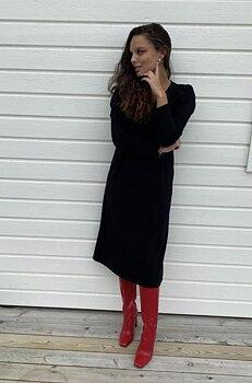 STAJL - Långklänning med puffärm