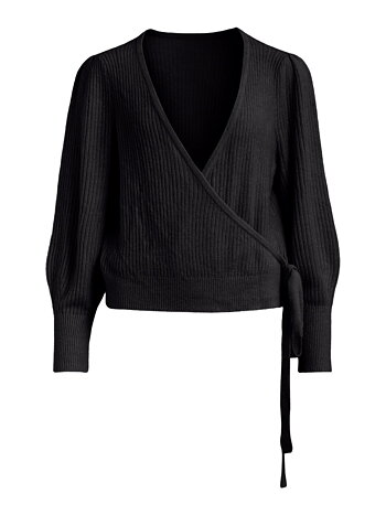 LOVELY - Wrap knit top