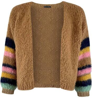 HERA - brushed knit cardigan - Frappe