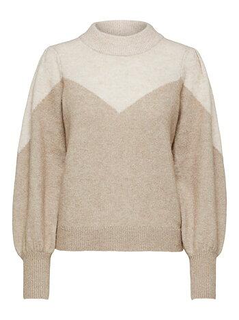 STAR - Block knit blouse