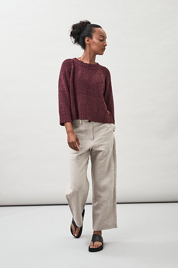 Lyra - Tape Yarn Organic Cotton Sweater
