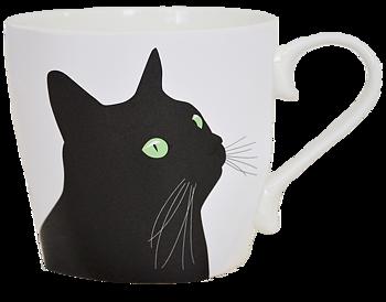 Ann Design- Svarta Katten mugg