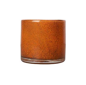 By On- Ljuslykta glas, orange 10cm