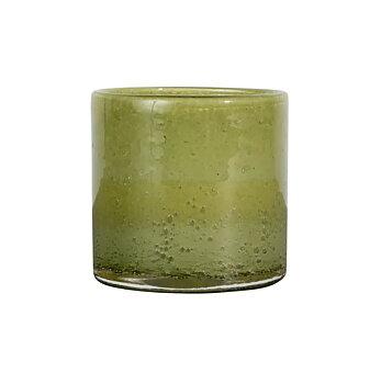 By On- Ljuslykta glas, grön 10cm