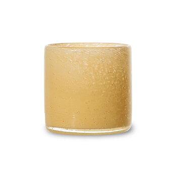 By On- Ljuslykta glas, gul 10cm