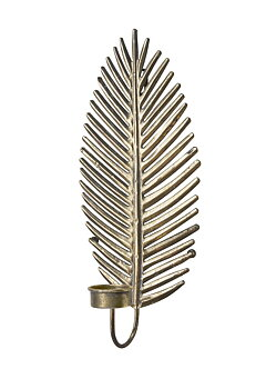 Wikholm form- Löv väggljusstake