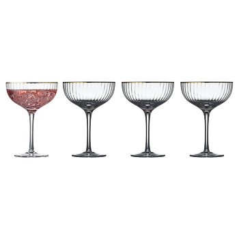 Lyungby glas- Cocktail guldkant 4-pack