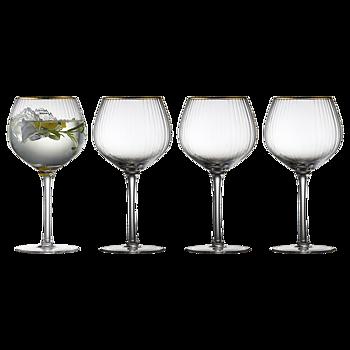 Lyungby glas- Gin & Tonic guldkant 4-pack