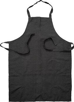 Ernst- Förkläde linne, mörkgrå