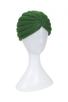 Turban milla stickad grön
