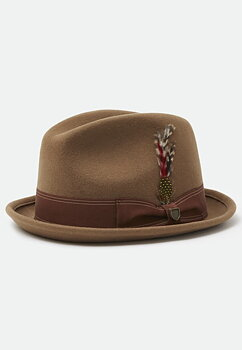 Brixton Gain fedora washed copper
