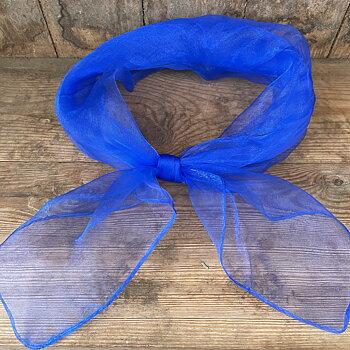 hårsjal skir blå